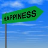 Strada a felicità Immagini Stock Libere da Diritti