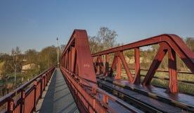 Strada ferrata e ponte nell'area di Bakov nad Jizerou fotografie stock