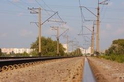 Strada ferroviaria Fotografie Stock Libere da Diritti