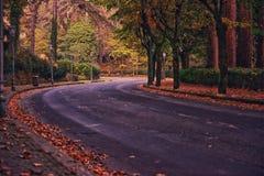 Strada in Fiuggy L'Italia Fotografie Stock