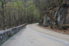 Strada fumosa della montagna Fotografia Stock Libera da Diritti