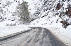 Strada ghiacciata Fotografia Stock Libera da Diritti