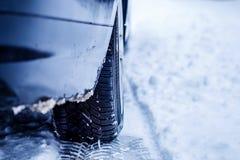 Strada ghiacciata di inverno immagine stock
