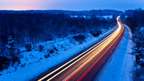 Strada ghiacciata di inverno fotografie stock libere da diritti