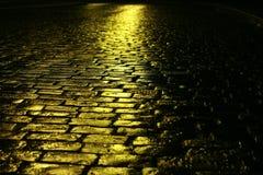 Strada gialla Fotografia Stock