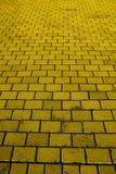 Strada gialla del mattone Fotografia Stock Libera da Diritti