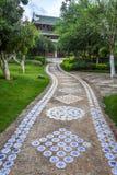 Strada in giardino cinese Fotografia Stock