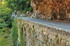 Strada in gola nel Alpes-Maritimes Immagine Stock Libera da Diritti