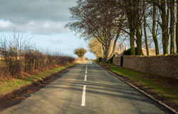 Strada in Gran-Bretagna rurale Fotografia Stock