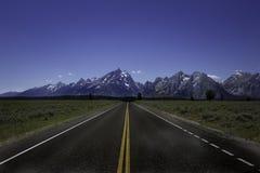 Strada a grande Tetons Fotografia Stock