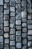 Strada grigia del mattone della roccia Fotografia Stock