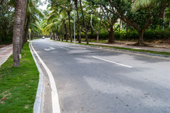 Strada a Hainan, Cina Immagine Stock