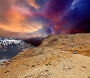 Strada in Himalaya Immagine Stock Libera da Diritti