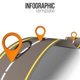 Strada infographic Immagine Stock