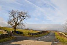 Strada Inghilterra delle vallate di Yorkshire Fotografia Stock Libera da Diritti
