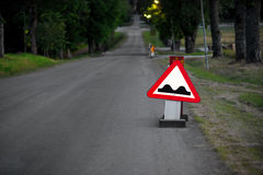 Strada irregolare Fotografia Stock