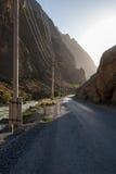 Strada irregolare della montagna Fotografie Stock Libere da Diritti