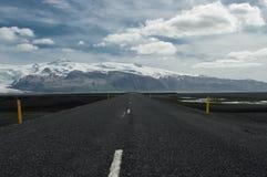 Strada in Islanda Fotografia Stock