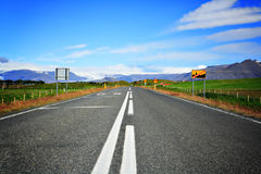 Strada in Islanda Immagine Stock