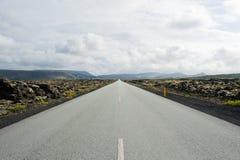 Strada islandese Immagini Stock Libere da Diritti