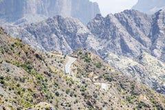 Strada Jebel Akhdar Oman Immagini Stock Libere da Diritti