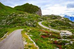 Strada Julian Alps della montagna Immagini Stock