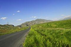 Strada a Khaidarkan, Kirghizistan Fotografie Stock Libere da Diritti