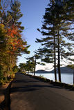 Strada litoranea - Maine Immagine Stock Libera da Diritti
