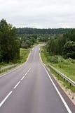 Strada in Lituania Immagini Stock