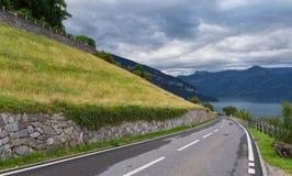 Strada locale, lago Thun Immagini Stock