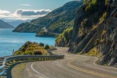 Strada lungo il lago Wakatipu Immagine Stock Libera da Diritti