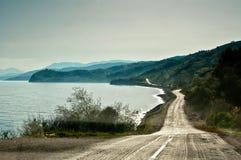 Strada lungo il Mar Nero Fotografia Stock
