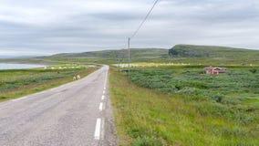 Strada lungo il mare Immagine Stock