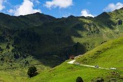 Strada maestra Austria, Tirolo, Tirolo, Zillertaler Hoehenstrasse di Zillertal Immagini Stock