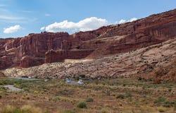 Strada a Moab Immagini Stock Libere da Diritti