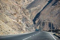 Strada moderna della montagna nell'Iran Fotografie Stock Libere da Diritti