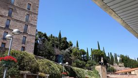 Strada monastry di Moncerrat Immagini Stock