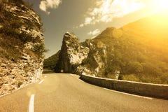 Strada in montagne immagine stock libera da diritti