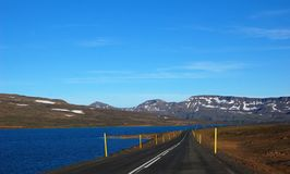 Strada N1 del deserto in Islanda Fotografia Stock