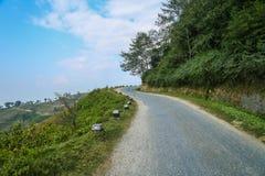 Strada in Nagarkot Fotografia Stock Libera da Diritti