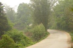 Strada in nebbia Immagini Stock