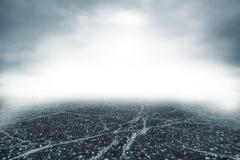 Strada in nebbia spessa Fotografie Stock
