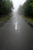 Strada nebbiosa Fotografie Stock