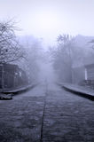 Strada nebbiosa Fotografie Stock Libere da Diritti