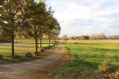 Strada nei campi, Mondorf, Germania Fotografie Stock Libere da Diritti