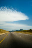 Strada nel Botswana Immagine Stock