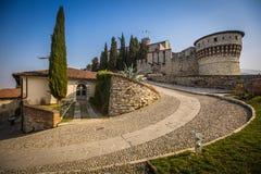 Strada nel castello di Cidneo Immagini Stock Libere da Diritti