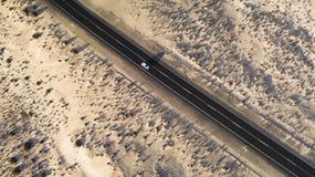 Strada nel deserto Fotografia Stock