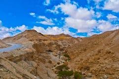 Strada nel deserto Fotografie Stock Libere da Diritti