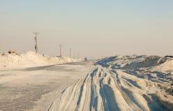 Strada nel deserto Immagini Stock Libere da Diritti
